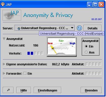 رايانه ! اينترنت و....... - آنتي فيلتر JAP Anonymity &amp  Privacy ...